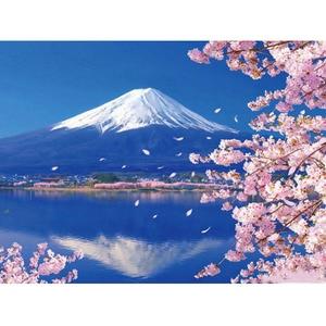 Home Decoration Mount Fuji Diamond Painting Mosaic Sakura Cherry Mountain Square Rhinestones 3D Cross Stitch Diamond Embroidery