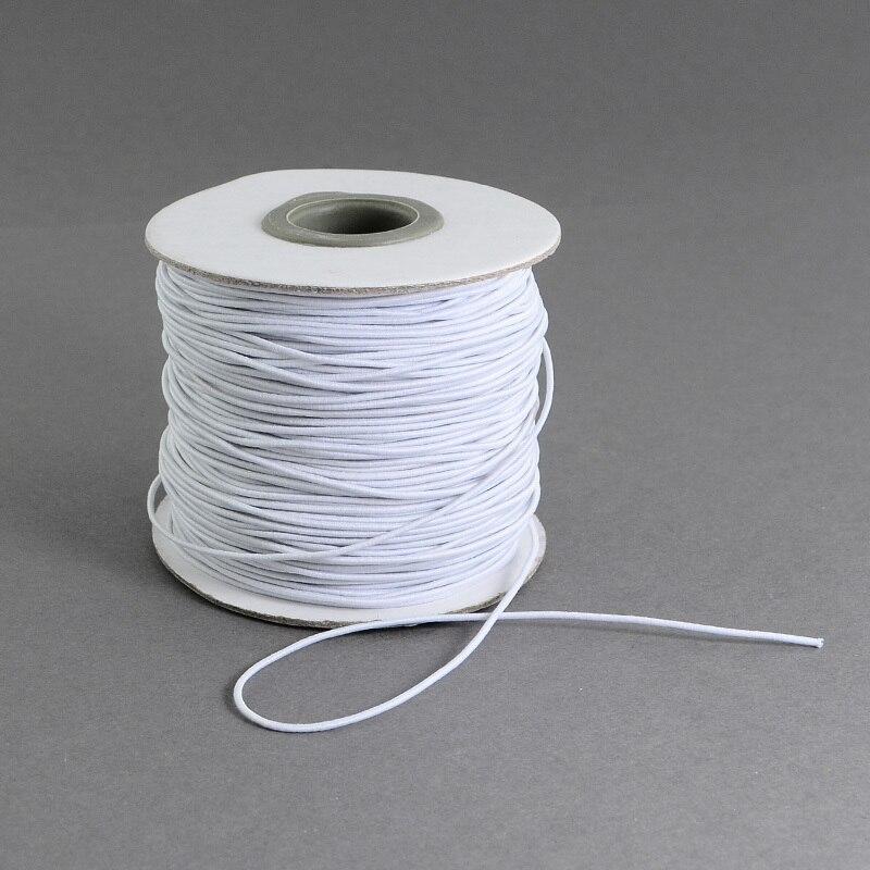 1 rollo, 1mm, 2mm, redondo, 1 rollo, cuerda de hilo de fibra elástica, cordón para oreja, cuerda para ropa, artesanía de costura, máscara hecha a mano DIY