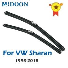 MIDOON щетки стеклоочистителя для Volkswagen Sharan Fit тяжелых крюк руки/сбоку булавки руки/кнопка модель год от 1995 до 2018