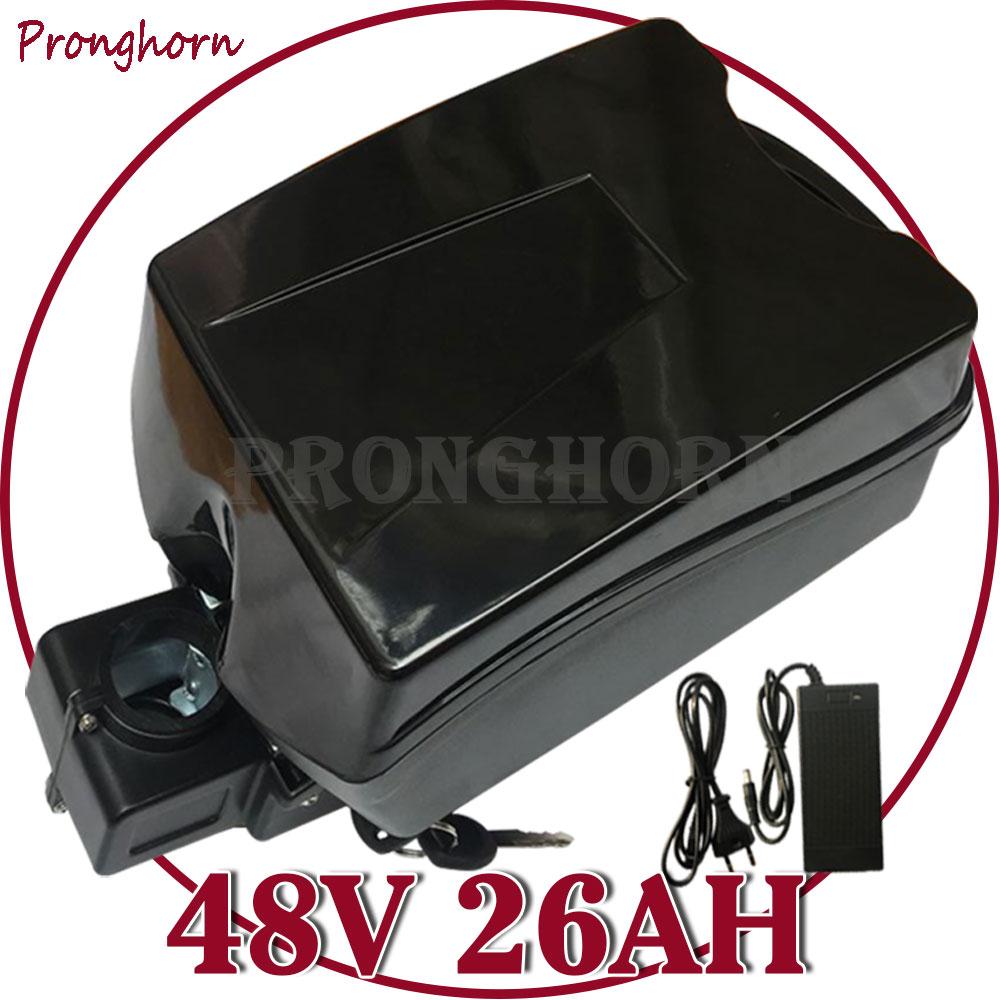 48V Lithium Battery 48V 13Ah 15Ah 16AH 18Ah 20Ah 22Ah 25AH 1000W Electric Bicycle Battery Pack Built in 30A BMS+54.6V 5A Charger