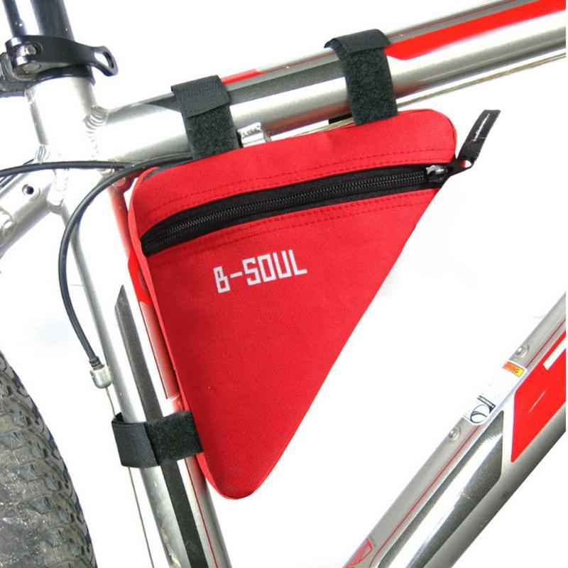 Bolsa de ciclismo bolsa para marco de tubo frontal bolsas de sillín impermeables bolsas de bicicleta de montaña bolsa marco soporte Color sólido bolsas de ciclismo