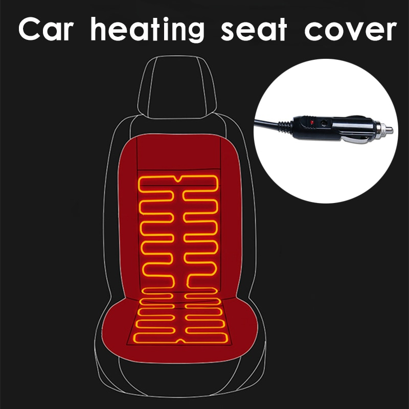 12V Heated car seat cover The cloak on the car seat Seat heating Universal Automobile cover car seat