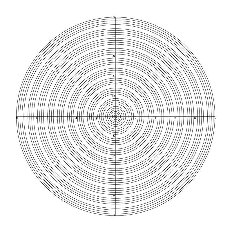 DIV 0,1mm círculo concéntrico calibración retícula diapositivas óptico laboratorio micrómetro microscopio Accesorios