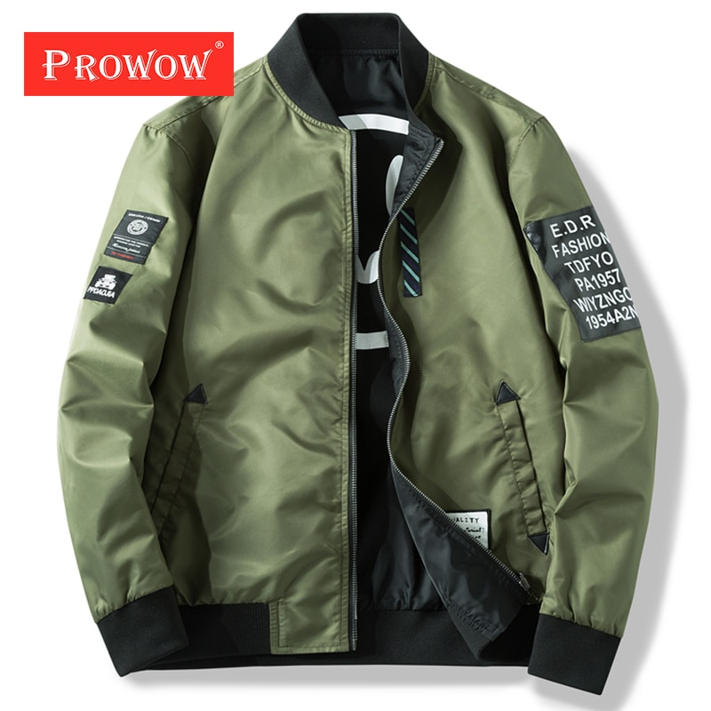 Parches verdes delgados para hombre, abrigo, chaqueta Bomber para hombre, chaqueta de conductor para hombre, cremallera sólida con chaqueta reversible, informal a prueba de viento