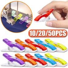 10/20/50Pcs Nähen Clips Kunststoff Clips Quilten Crafting Häkeln Stricken Sicher Clip Assorted Farben Verbindlich Clip lagerung Clip