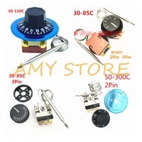 30 85c 30 110c 50 300c degree nc 2pin ncno 3pin adjust knob temperaturecontroller capillary thermostat switch oven water heater