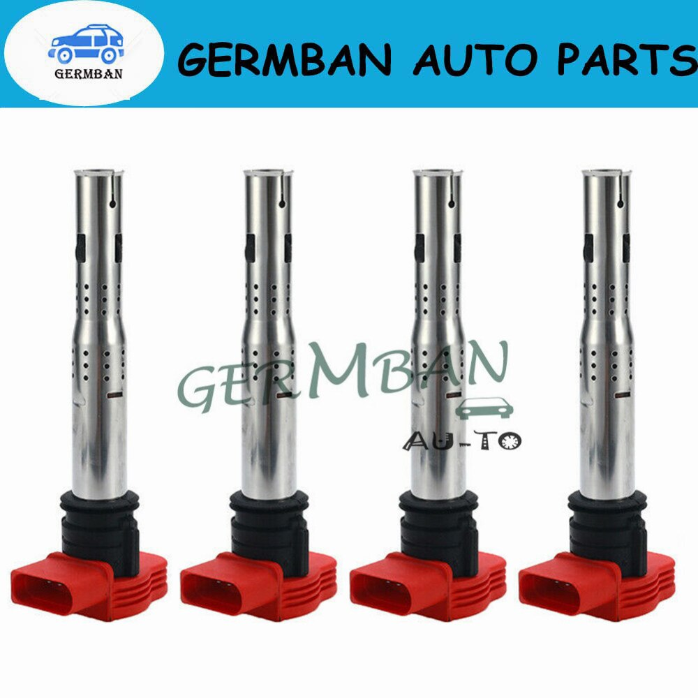 Esquina izquierda 4X bobina de encendido 06E905115E 07K905715F V W Tou areg A4 S4 A5 A6 S6 Alroad A7 A8 Q5 Q7 R8 2,8, 3,0 de 3,2 V6 4,2 V8