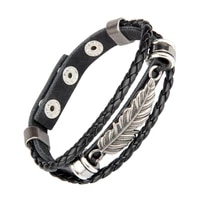 mens womens stainless steel handmade leather bracelet multilayer retro angel wing bracelet jewelry 2020