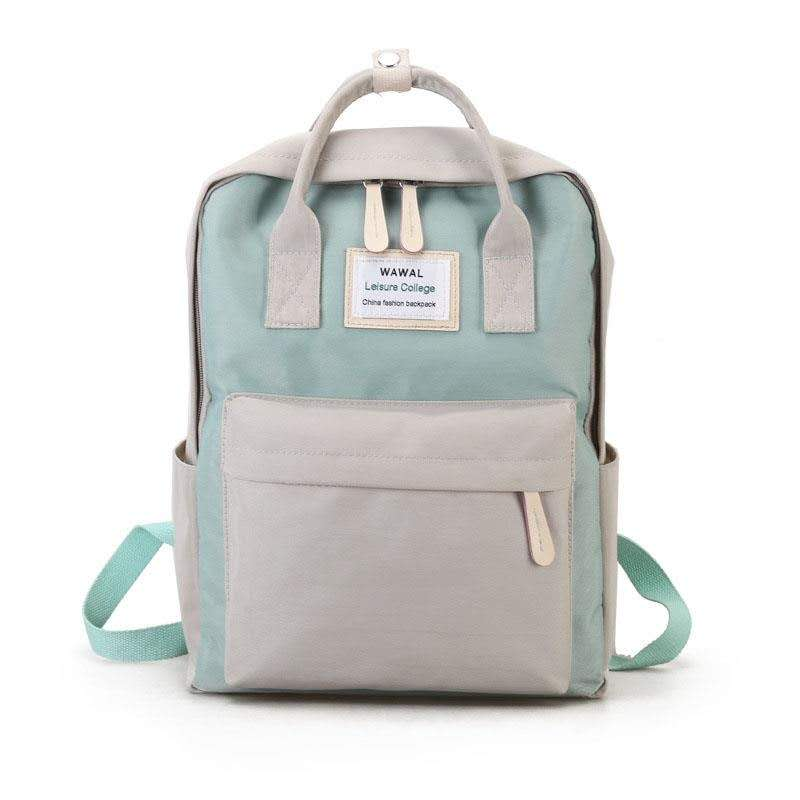 Cute student Canvas fashion Backpack  female  Solid colorbackpack leisuretravel  school simple perso
