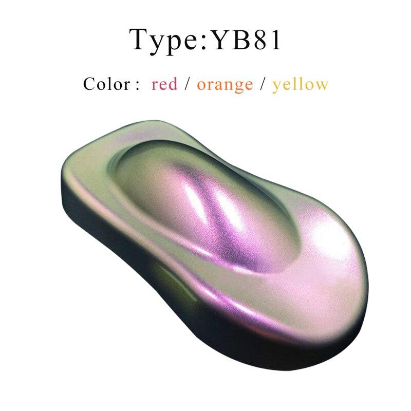 Pigmentos De polvo camaleón 10g, pinturas acrílicas, recubrimiento en polvo, tinte YB81 para coches, pintura De automoción