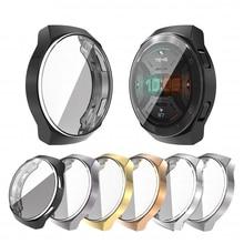 Pour Huawei GT2e montre Silicone boîtier placage souple écran protecteur couverture pour huawei montre GT2e GT 2e bande SmartWatch accessoires