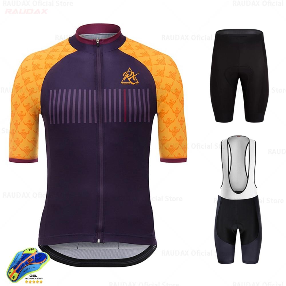 Wielertrui 2020 Pro Team Raudax Nieuwe Korte Mouw Fietsen Kleding Kit Mtb Bike Wear Triathlon Maillot Ciclismo Kunt Raudax