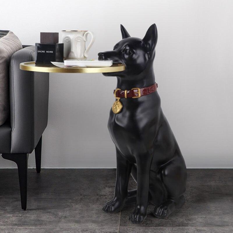 طاولة شاي فاخرة إسكندنافية ، أشغال يدوية إبداعية من الراتنج ، دعم حيوانات ، أثاث منزلي لغرفة المعيشة