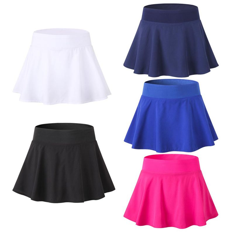 Women Tennis Yoga Skirt Shorts Fitness Quick-drying Sports Breathable Tennis Shorts Badminton Shorts