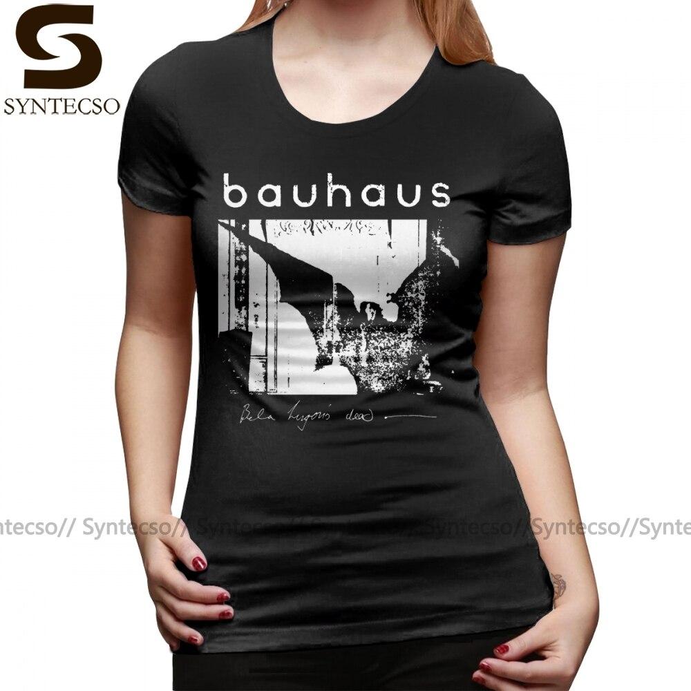 Camiseta con alas de la Bauhaus, alas de murciélago Bela Lugosi S T camisa impresa de la calle de moda de las mujeres Camiseta de manga corta Camisa de las señoras
