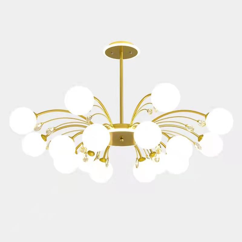 Nordic хрустальные люстры постмодерн Гостиная светильник создает особую атмосферу благодаря Обеденная Спальня светильник волшебные бобы