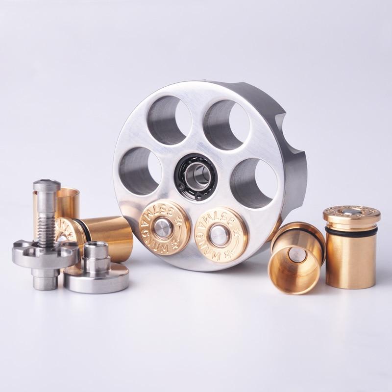 Left wheel fingertip top brass stainless steel fingertip top adult fingertip top toy fidget spinners stress relief fidget toys enlarge