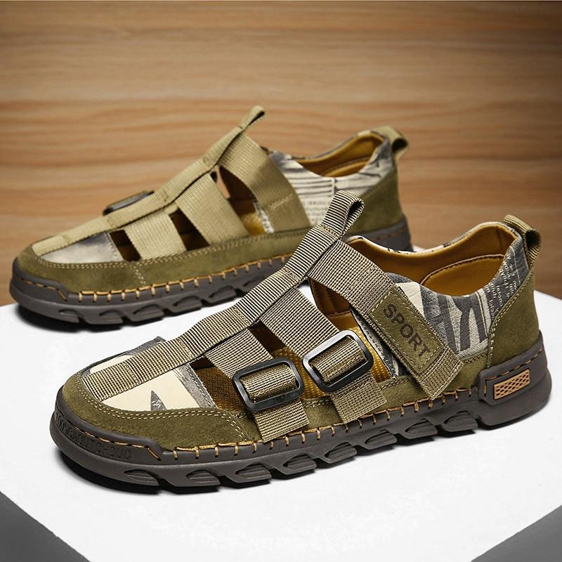 Fashion Large Size Men's Sandals Casual Men's Shoes Hollow Slippers Rubber Feetwear Men's Shoes Sand
