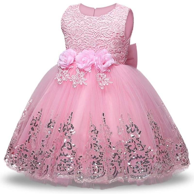 2021 Baby Girl Dress 1 Year Birthday Dress Girl Party Wedding Dress Tutu Princess Dress Clothes For Newborns Children vestidos