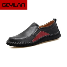 New Man Loafers Driving Shoes Large Size Genuine Leather Sets foot shoes Men Peas shoes Fat wide sho