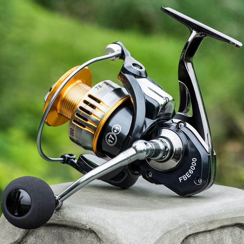 Лучшая 17 + 1BB металлическая спиннинговая катушка, приманка, литая катушка спиннинга для морской рыбалки, пресноводные басы, карп, форель, мор...
