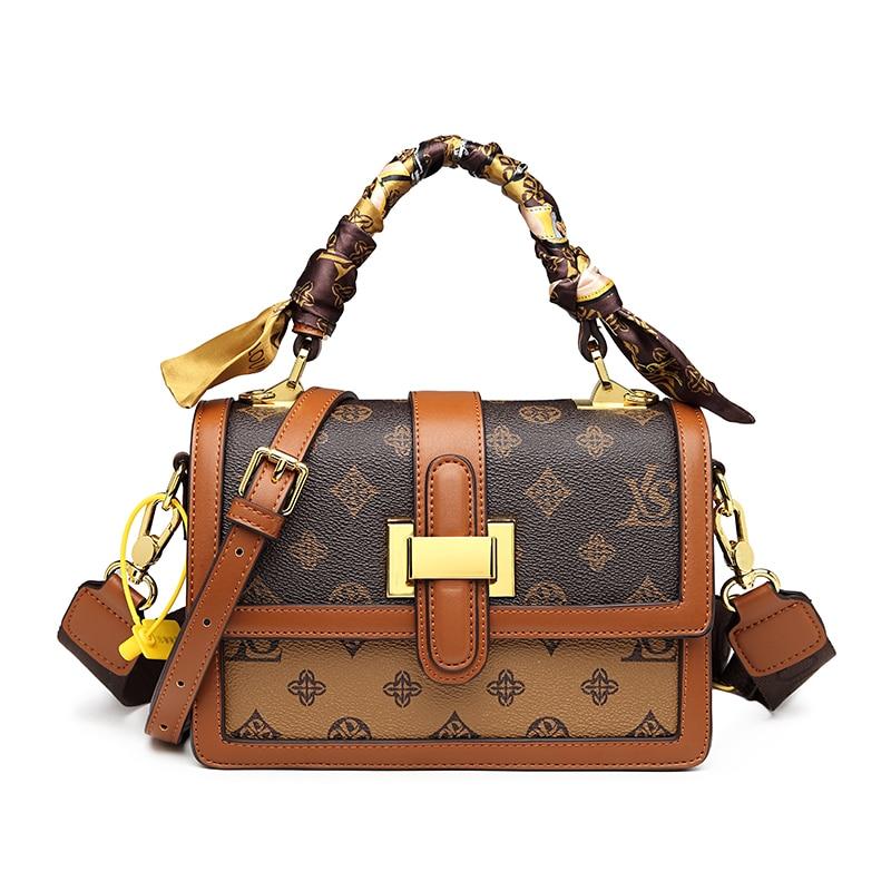 2021 new style vintage prints crossbody bag for women luxury designer brand high quality genuine leather dating purses Monogram
