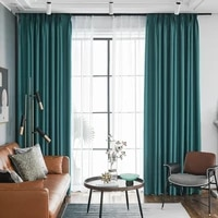 modern thick blackout window drapes thermal insulation linen curtains for living room bedroom custom