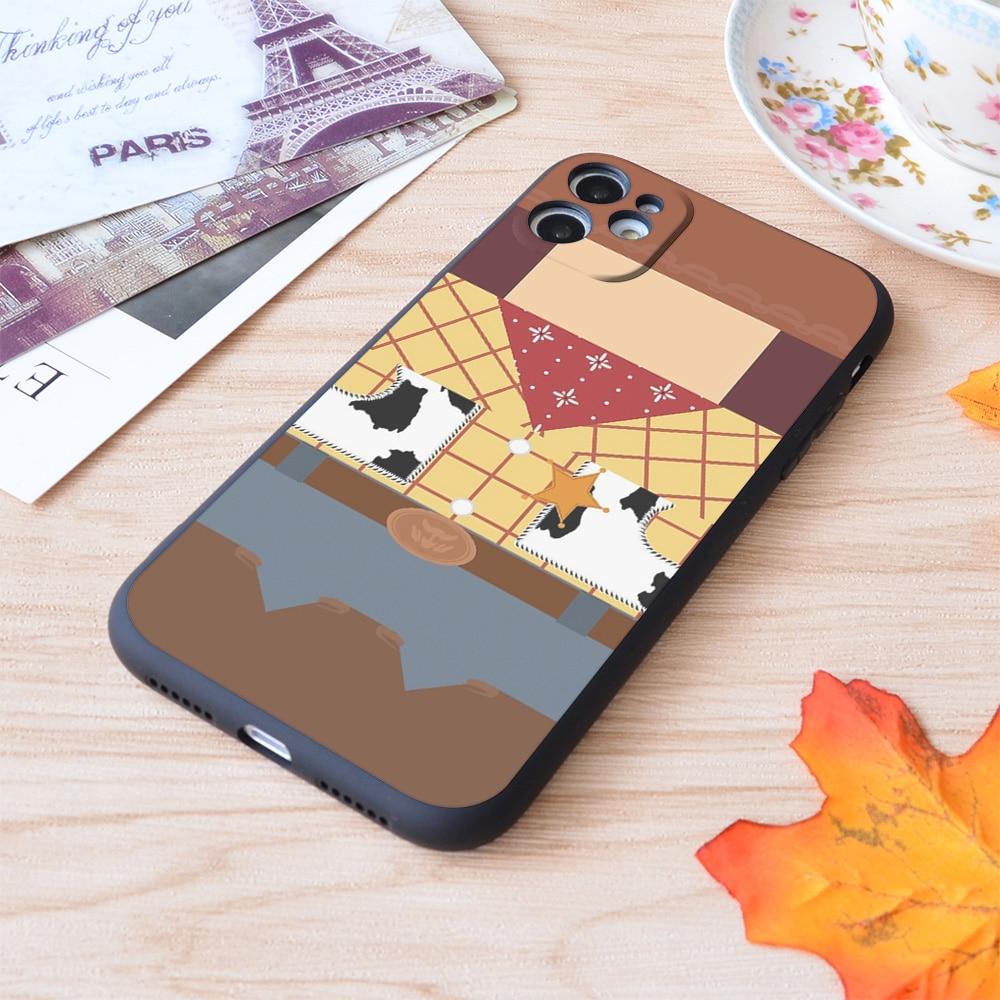 Capa de silicone macio de impressão minimalista amadeirado para apple iphone