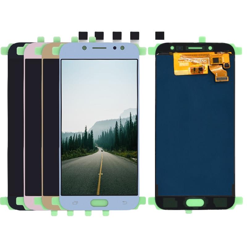 Para Samsung Galaxy J7 Pro 2017 J730 SM-J730F J730FM/DS J730GM/DS pantalla LCD de alta calidad con montaje de digitalizador con pantalla táctil