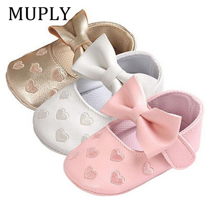 Baby PU Leather Baby Boy Girl Baby Moccasins Moccs Shoes Bow Fringe Soft Soled Non-slip Footwear Cri
