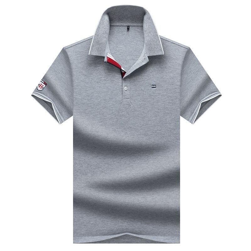 Polo Casual HEHU, camisa Polo sólida de algodón para hombre, camisa de verano para hombre, cuello vuelto, Polo para hombre, ropa de hombre en 7 colores