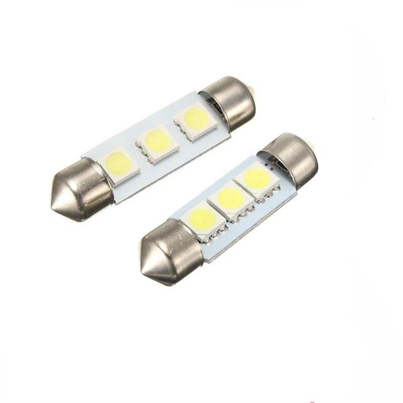 Белый светодиод C5W 5050 3 Smd 3Smd 31 мм 36 мм 39 мм 41 мм Dc 12 В фестона внутренний купол дверной светильник Светильник Бесплатная лампа указатель повор...