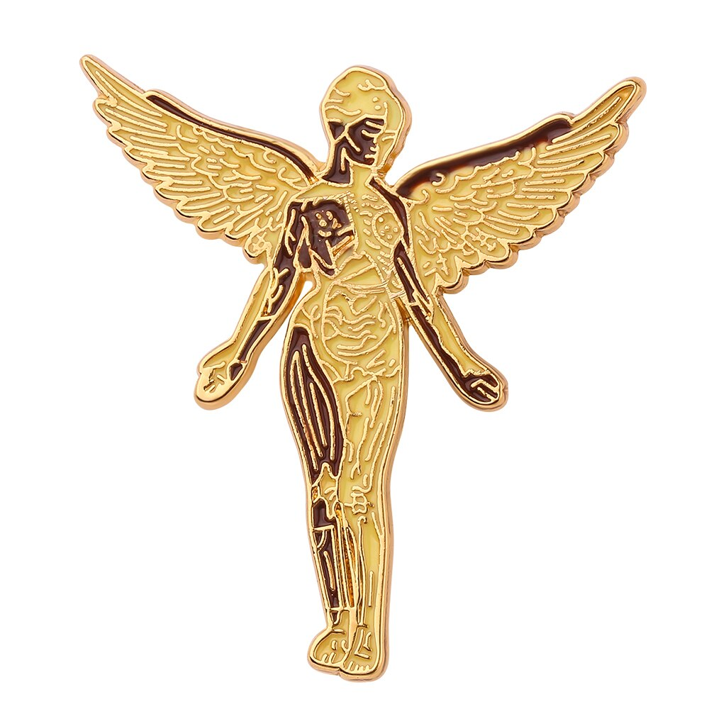 Music Lover Rock Band Nirvana Brooch Angel Art Brooch Heavy Metal Fans Gift Heavy Metal Fans Gift Badge Decor For Women Jewelry