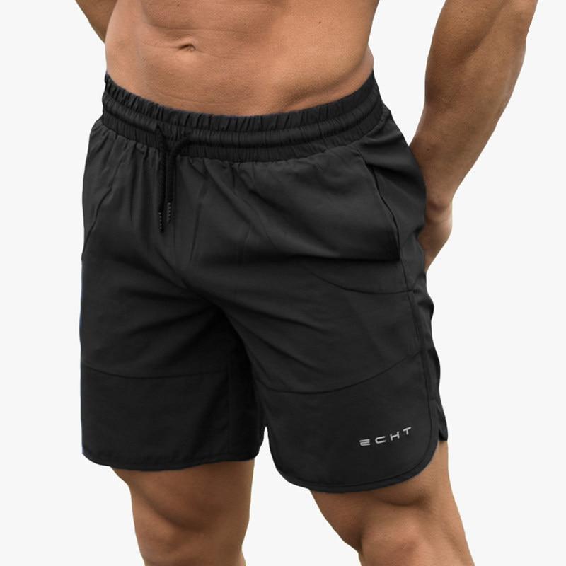 Шорты мужские спортивные для фитнеса, свободные Джоггеры для бодибилдинга, быстросохнущие, модные короткие брюки, повседневные пляжные Бре...