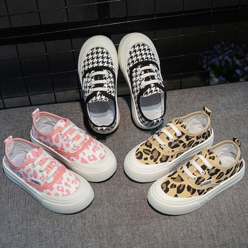 Kids Shoes Girls Sneakers Summer New Breathable Canvas Shoes Childrens Shallow Mouth One-step Baby S