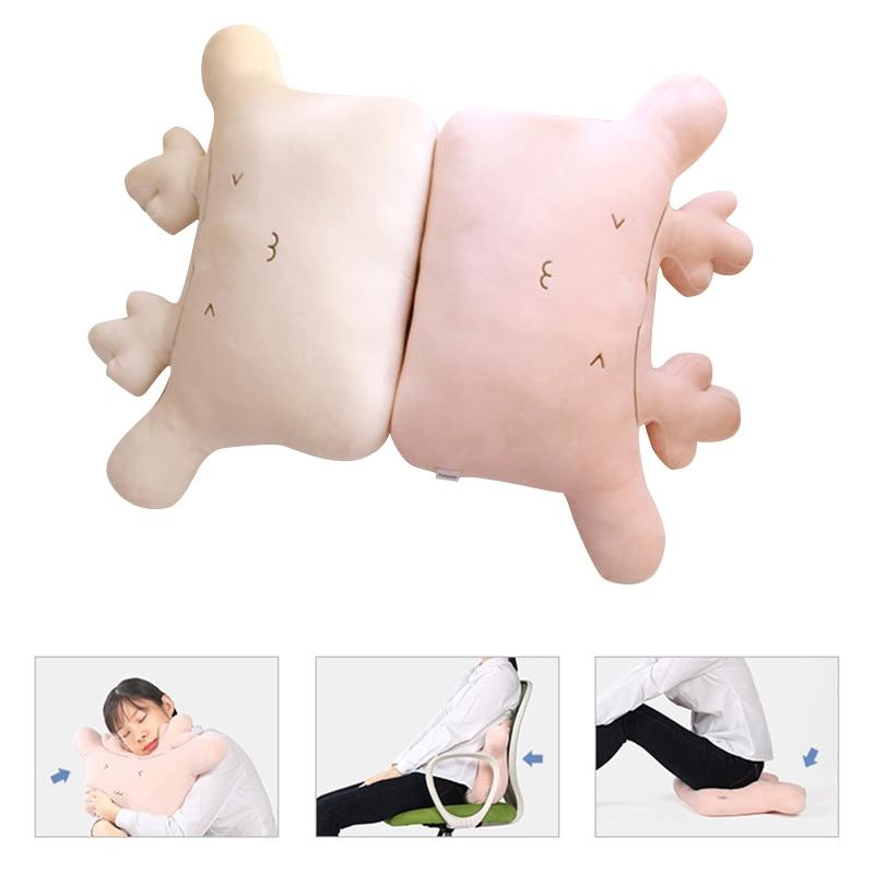 Cartoon Sofa Cushion Back Pillow Bed Backrest Office Chair Pillow Support Waist Cushion Lounger TV Reading Lumbar Home Decor
