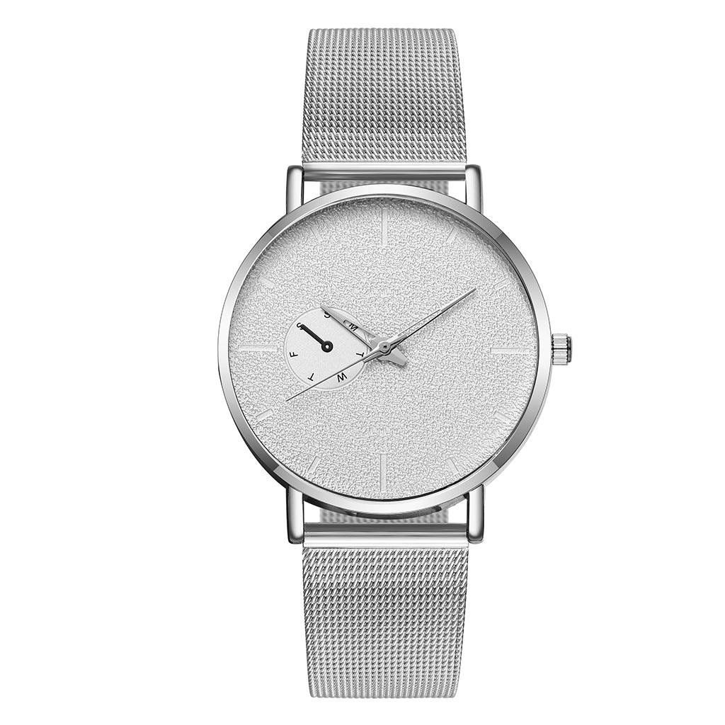 Fashion Simple Creative Stainless Steel Mesh Belt Man Quartz Watch Top Brand Luxury Waterproof Watch часы женские наручные умные часы huawei watch steel mesh mesh серебряная сталь 42mm