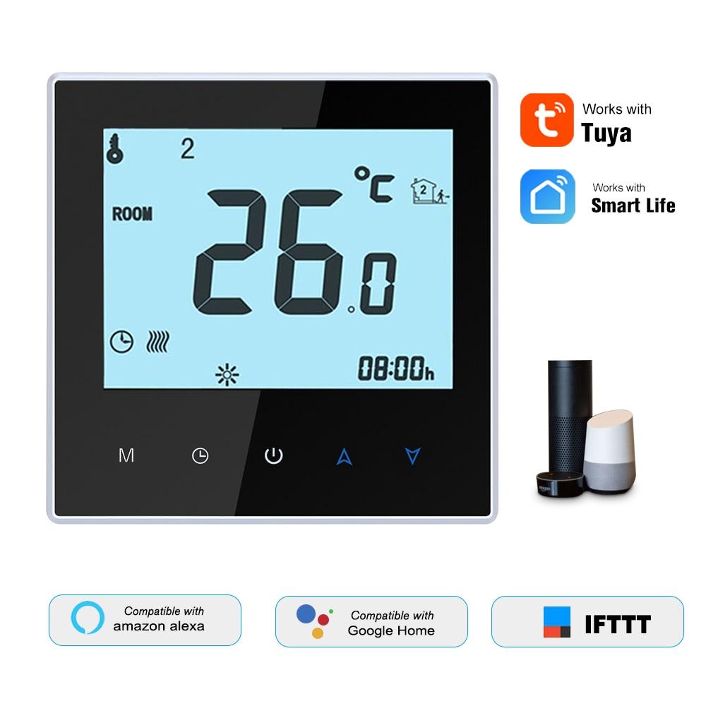 THP1000-UHPW التدفئة الكهربائية ترموستات واي فاي الرقمية متحكم في درجة الحرارة تويا/SmartLife APP التحكم الخلفية شاشة الكريستال السائل