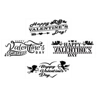 4pack happy valentines day stencils templates set for plastic reusable crafting wedding valentines day diy crafts