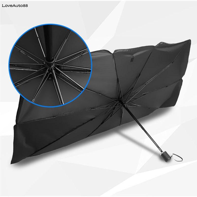 Pára-sol do carro interior janela frente sun sombra capa protetor uv dobrável guarda-chuva pára para nissan altima teana j31 j32 l33