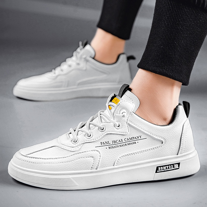 The new trendy brand mid-top men's shoes Korean version of the explosive style all-match simple and