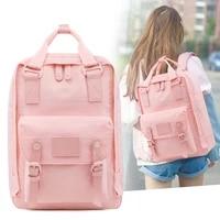 women nylon backpack candy color school bags for teenage girl 14 inch laptop backpack female waterproof travel rucksack mochilas