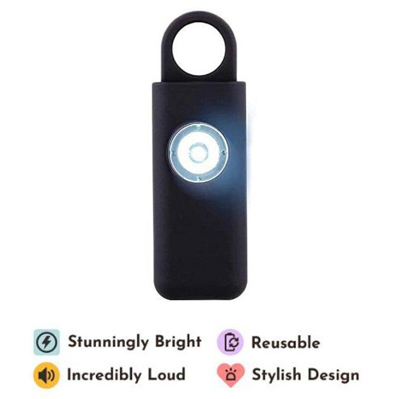 Охранная сирена для самообороны для женщин, брелок с дБ, SOS светильник ка, Личная сигнализация