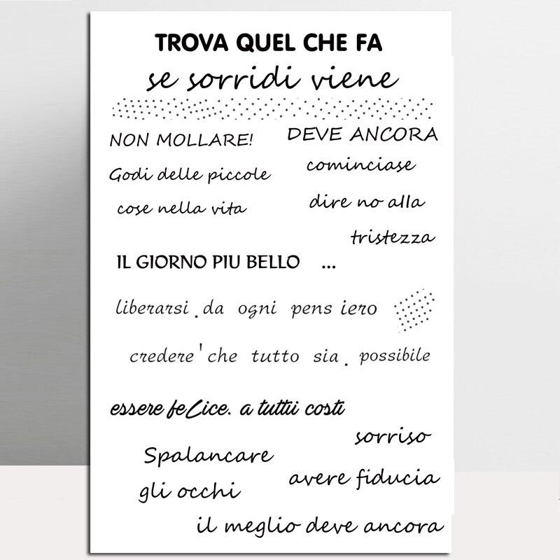 Sello con bendición italiana ZhuoAng para álbum de recortes DIY/tarjeta decorativa para álbum de fotos, suministros de sellos transparentes