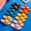 Women Thick Platform Slippers Summer Beach Eva Soft Sole Slide Sandals Leisure Men Ladies Indoor Bathroom Anti-slip Shoes
