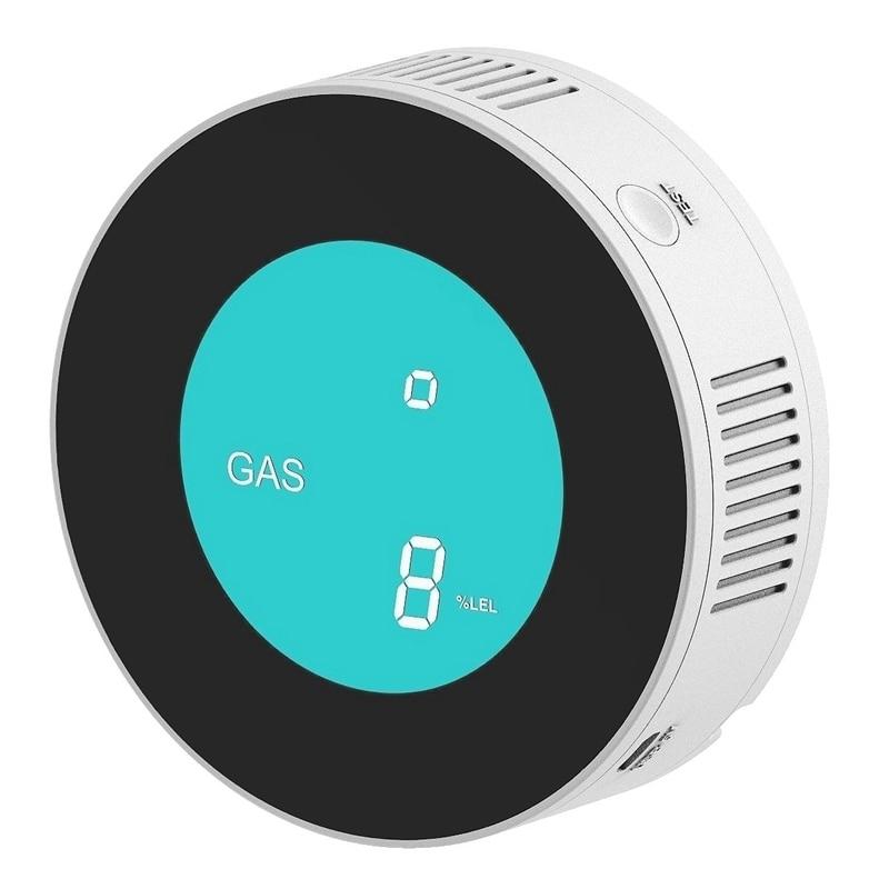 IG-TUYA Smart WiFi/GPRS Gas Detektor Alarm Natürliche Leck Brennbaren LPG Gas Detektor für Home Alarm System EU Stecker