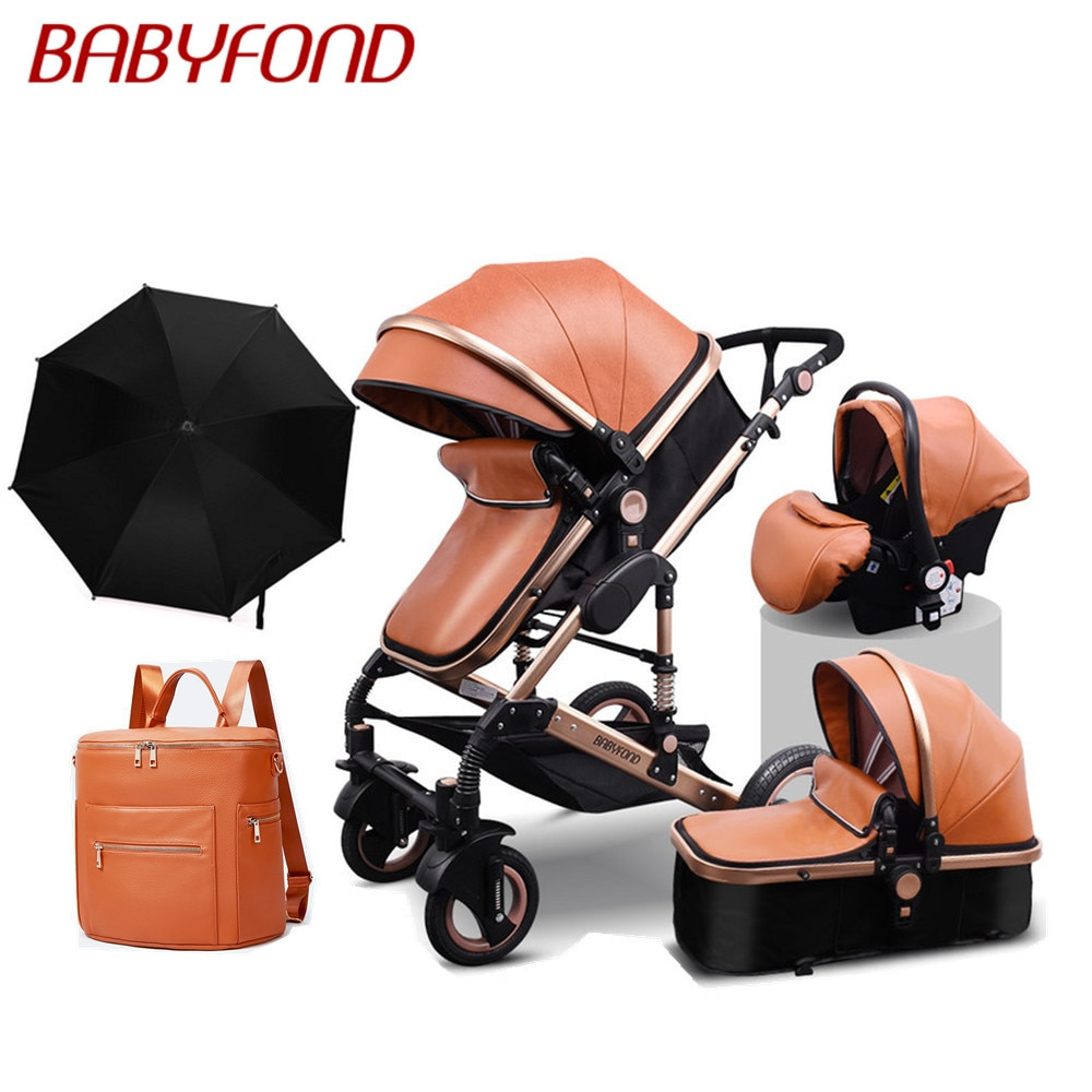 Golden baby brand  high landscape stroller seated  folding 0-3 years old portable newborn BB cart 3 in 1 baby stroller