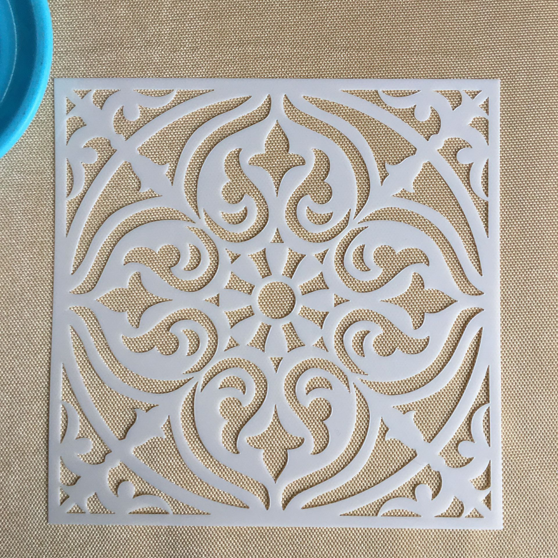AliExpress - Mandala 1pc 15 * 15cm  mold DIY home decoration drawing template laser cutting wall template painting tile tiles stencil