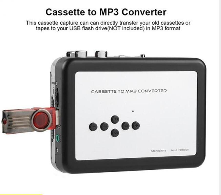 REDAMIGO USB MP3 كاسيت لاعب التقاط إلى MP3 USB كاسيت التقاط الشريط دون PC ، USB كاسيت محول MP3 كاسيت إلى MP3