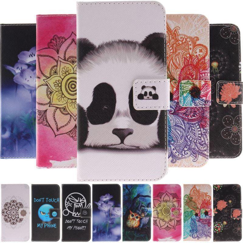 Funda para Apple iPhone SE 2020 6 6s 7 8 Plus 5 5S X Xs Max Xr funda pintada Panda ira búho cartera tarjetero bolsas D26G